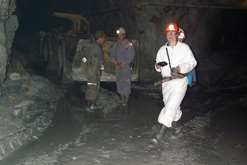 Figure 20.9 Underground at the Myra Falls Mine, Vancouver Island. [SE]