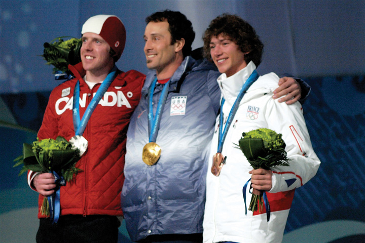 Gold, bronze, and silver medalists at the olympics.