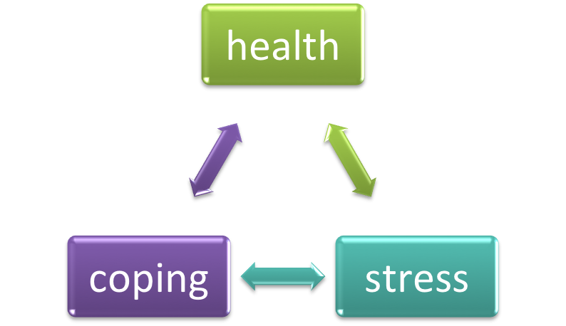 A person's health, ability to cope, and stress level are all related.