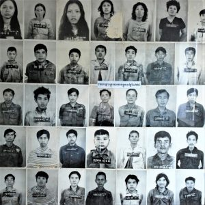 Photographs of victims of Cambodian dictator Pol Pot.