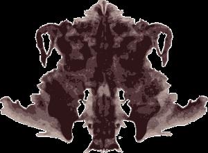 An example of a Rorschach inkblot.