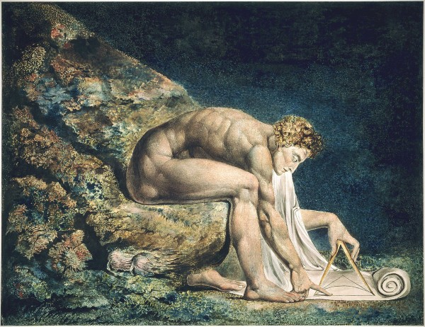 A painting of Isaac Newton by William Blake.