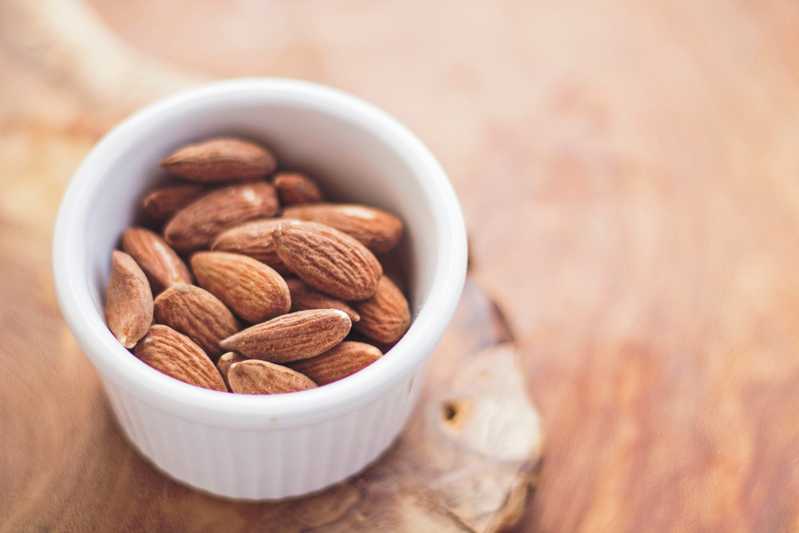 Picture of a small bowl of almonds